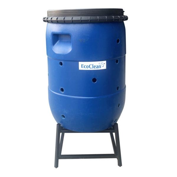 Thùng ủ phân bón hữu cơ vi sinh có thiết kế đơn giản và dễ sử dụng của EcoClean.